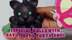 DIY - Porta anel de gato preto - Sah Passa o passo especial Halloween