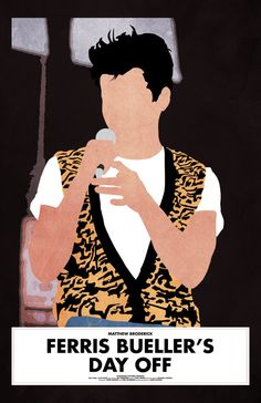 Ferris Bueller's Day Off 11 x 17 Minimalist Movie by Printwolf