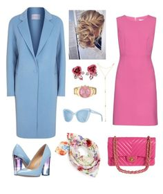 """Pink vs blue💐 office look👌🏻"" by ne-alina on Polyvore featuring мода, Akribos XXIV, Betsey Johnson, Fragments, Diane Von Furstenberg, Sandro, Prism, Sole Society и Chanel"