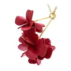 MARNI Necklace (29.000 RUB) ❤ liked on Polyvore featuring jewelry, necklaces, leather jewelry, red jewelry, golden jewelry, red necklace and marni jewelry