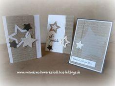 Weihnachtskarte stampin up, Sterne