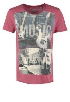 Tom Tailor Denim BASIC FIT - Print T-shirt - dusty rose red for £ 03472923de6
