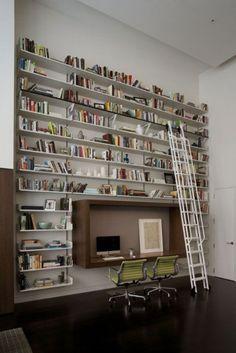 De thuisbibliotheek; met bureau