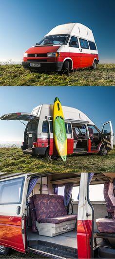 Volkswagen T4 mit Hochdach und Kühlschrank #vw #vwcamping #camper #camping #vwbus #t4 #campanda