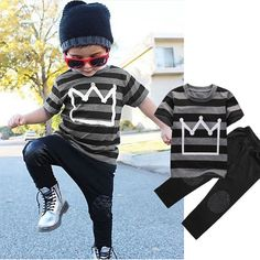 Children Suit Boys Tracksuit Summer 2016 Cotton Sport Clothes Pant Set Fashion Kids Outfit Brand Streetwear Casual Child Garment