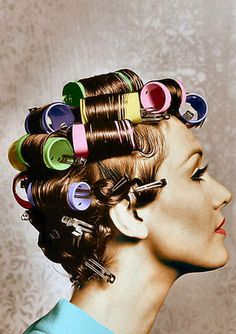 Roller set....you learn to hate these after going to beauty school !