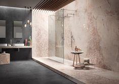 Rosa Opal 16371 Large Format Tile, Textures And Tones, Italian Marble, Marble Effect, White Tiles, Shape Design, Restaurant Design, Kitchen Countertops, Interior Inspiration