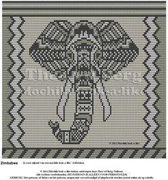 Zimbabwe zijkant 120 steken. Inspiratie van een Hama strijkkralen patroon.