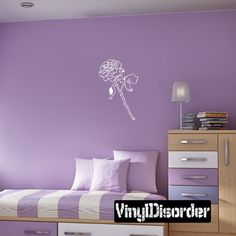 Rose Wall Decal - Vinyl Decal - Car Decal - CF032