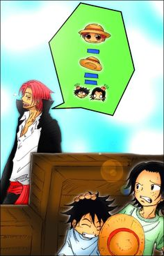 One Piece Ace, Shanks and Luffy