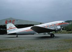 NAC DC-3 Skyliner, Wellington Airport, 1969, image Wings Over New Zealand