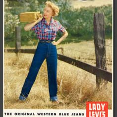 Eighty years ago in the fall of 1934 Levi Strauss & Co. introduced the worlds first jeans made exclusively for women Lady Levis jeans. - Denizen From Levi Jeans for women - Ideas of Denizen From Levi Jeans for women Levis Jeans, Jeans Fit, Jeans Skinny, Vintage Jeans, Jean Vintage, Vintage Outfits, Outfit Jeans, Denim Outfits, History Of Jeans
