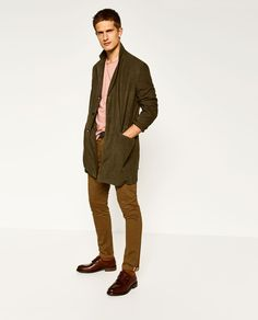 Image 1 of CHINO TROUSERS WITH BELT from Zara