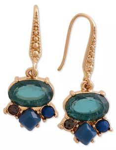 Laundry by Shelli Segal Gold-Tone Stone Cluster Drop Earrings Green Earrings, Drop Earrings, Jewelry Box, Jewelry Watches, Laundry By Shelli Segal, Women's Socks & Hosiery, Dresses With Leggings, Mens Gift Sets, Sock Shoes