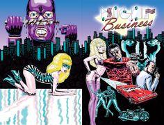 Night Business comic book cover by Benjamin Marra