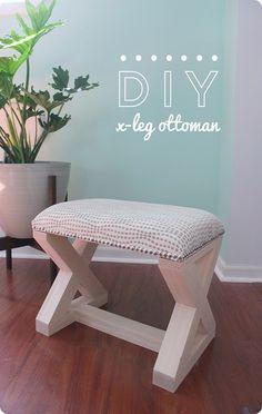DIY X-Leg Ottoman
