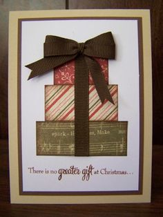 Made by Susan Williams - think I will make something like this for my cards this year