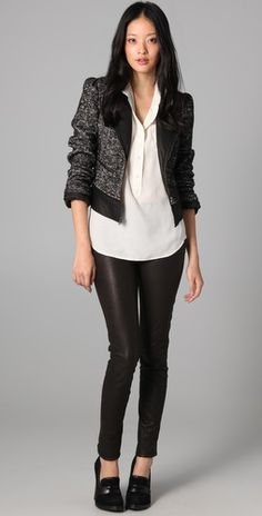 """Bird by Juicy Couture - """"Magic Stretch Leather Leggings"""" $898"""