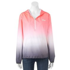 Women's FILA Sport® Quarter-Zip Ombre Running Jacket, Size: