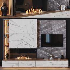 Wall unit with fireplace units design ideas - TV unit design fireplWall unit with fireplace units design ideas - TV unit design fireplfloatingtvunitbuiltins Wall Units With Fireplace, Home Fireplace, Modern Fireplace, Fireplace Design, Tv Cabinet Design, Tv Wall Design, House Design, Tv Wall Decor, Wall Tv