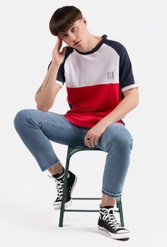 Buy T-Shirts By Kaotiko BCN clothing e-Shop · T-shirts, sweatshirts, trousers, trendy sneakers and streetstyle accessories Boy Clothing, Mens Clothing Styles, Clothes, Outfits With Converse, Converse Men, Sports Polo Shirts, Bull Logo, Mens Fashion, Fashion Outfits