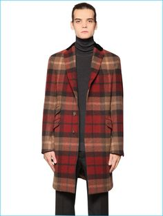 Etro Men Plaid Coat