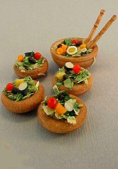 mini salad bowl set