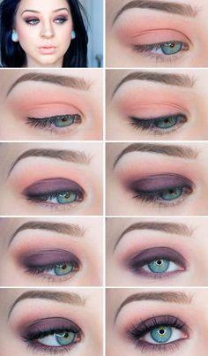 Smokey Eye Make-up für blaue Augen von noemi – Makeup For Beginners Eye Makeup Steps, Blue Eye Makeup, Smokey Eye Makeup, Skin Makeup, Beauty Makeup, Blue Eyeshadow, Winged Eyeliner, Makeup Tips For Blue Eyes, Pink Smokey Eye