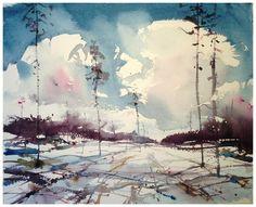 Björn Bernström, March II (3.800 SEK) sold #watercolor jd