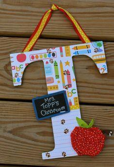 Teacher Appreciation Customized Initial- classroom Decor, Back-to-school, end of year, teacher appreciation gifts
