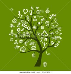 stock vector : Green ecology tree concept for your design