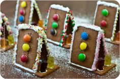 Who is crunching on my mini gingerbread house? Christmas Morning, Winter Christmas, Christmas Crafts, Xmas, Craft Activities For Kids, Games For Kids, Chocolates, Mini, Gingerbread Houses
