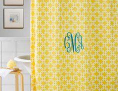 Monogrammed Shower Curtain.
