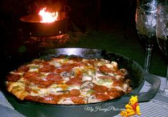 Campfire Dutch Oven Pizza WOW, THIS IS SIMPLE GREAT ANYTIME OF THE DAY...ENJOY