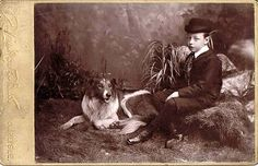 Vintage photo of a young lad and his Collie. Rough Collie, Collie Dog, Welsh Sheepdog, English Shepherd, Old Dogs, Training Your Dog, Dog Photos, Old Pictures, Pets