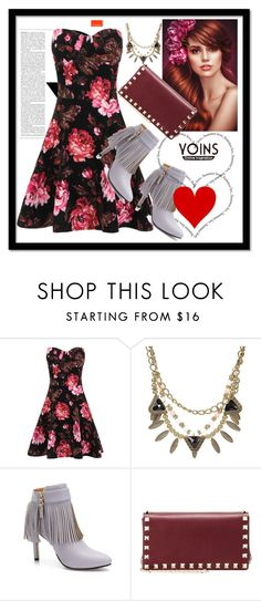"""""""YOINS #7"""" by nizaba-haskic ❤ liked on Polyvore featuring Ultimate, Valentino and yoins"""
