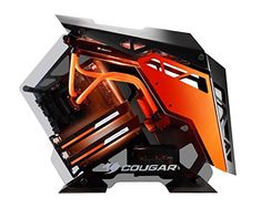 Cougar Conquer Alloy ATX Mid Tower Aluminum Frame Tempered Glass Gaming Case for sale online Gaming Computer Setup, Best Computer, Computer Case, Gaming Pcs, Gaming Desktop, Computer Science, Pc Cases, Mac Mini, Pick Up