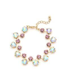 Shimmering In Elegance Bracelet - Iridescent White and Pink #shoplately