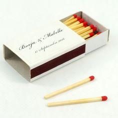 """Cajas de cerillas para bodas modelo """"Standard"""". Boda de Borja & Mabelle. Company Logo, Model, Match Boxes, Civil Wedding, Natural Wood, Adhesive, Weddings"""