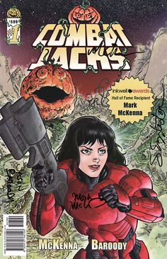 Combat Jacks 1 Comic Signed Mark McKenna Jason Baroody Sam Eggleston Mike Mckone