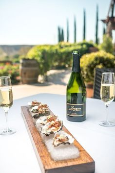 Great dishes paired with fine Leoness wines &  a fantastic view! Our oysters from The Restaurant at Leoness are fresh and delicious. Temecula Valley Wine Country eats.