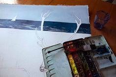 Step 5 – Malen der Ostsee (c) Frank Koebsch