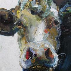 New artist for a new year! I have just totally fallen in LOVE with Jelly Green's cow painting!!!  You can see more of Jelly's work at www...
