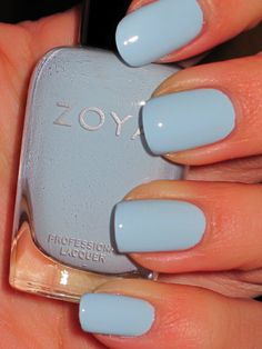 Zoya Blu.  Just got this and put it on, and it is a perfect spring blue!
