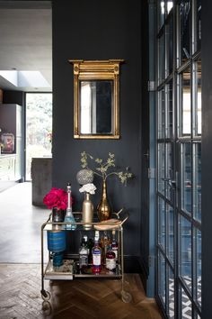 Industrial Vibe #15 | Livingetc Victorian Terrace, Victorian Homes, Modern Victorian, Dark Color Palette, Dark Colors, 21st Century Homes, Basement Bar Designs, Basement Ideas, Dark Interiors
