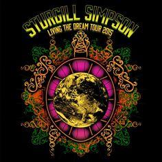 Sturgill Simpson Sturgill Simpson, Simpsons Tattoo, Concert Posters, Playing Guitar, Zeppelin, Rock Art, Country Music, Kentucky, Tattoo Ideas