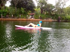 Cruising ,taking a break, beautiful Miami ,paddleboards / lounge chair