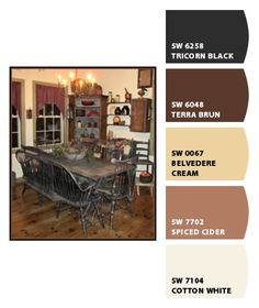 Cider is perfect for the living room, with the dark chocolate brown for the TV accent wall and the accent wall in the dining room!