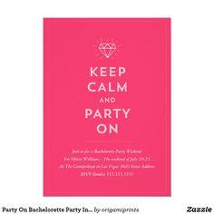 Party On Bachelorette Party Invitation