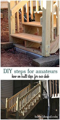 how we built steps for our back deck #deckbuilding